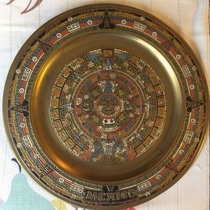 Vintage Metal Mexico Wall Hanging